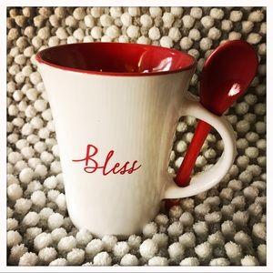 """Bless"" Mug w/Spoon"